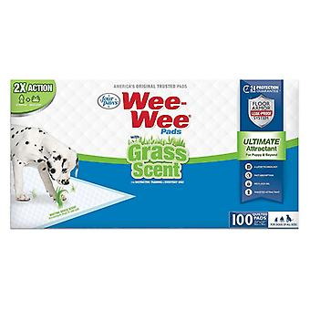 Four Paws Wee Wee Grass Scented Puppy Pads - 100 count