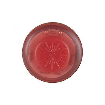 رونهيل LED زر لرونهيل تشغيل الملابس توهج أو فلاش - الأحمر