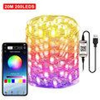 Smart for alexa wifi led rgb fairy string light usb waterproof garden decor lamp