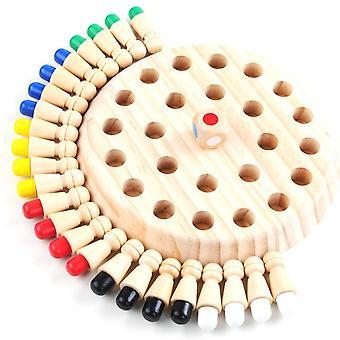 Memory Match Stick Dřevěná raná vzdělávací výuka Puzzle Hračka Dětské Party Hra| Stohování bloků