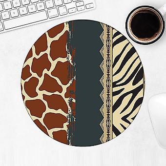 Gift Mousepad: Jaguar Giraffe Animal Print Fashion Wild