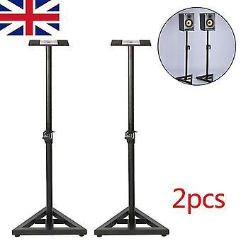 Microphone stands 2 monitor speaker stands adjustable dj studio stands black steel