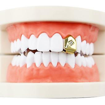 Хип-хоп однозубые зубные шапки боди ювелирные изделия Рождественская вечеринка Подарок