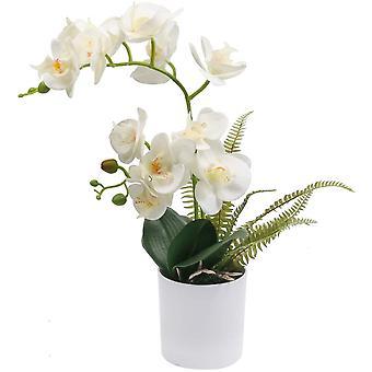 Artificial Phalaenopsis Orchid Arrangement Decorative Artificial Orchid Flower