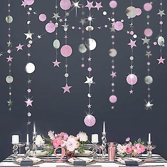 4m Twinkle Star Paper Garland God Juldekorationer För Hemmet