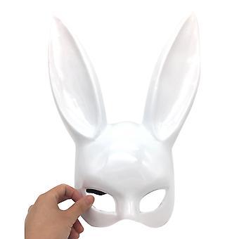 Swotgdoby المرأة تنكر أرنب نصف الوجه قناع هالوين Cosplay الأداء الدعائم