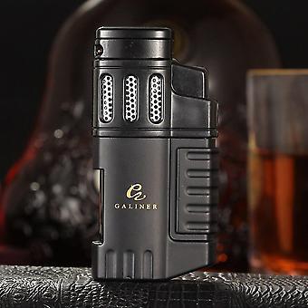 Butane Gas Lighter Metal Torch Cigar Lighter 4 Jet Flame Cigarette Lighters |Lighters