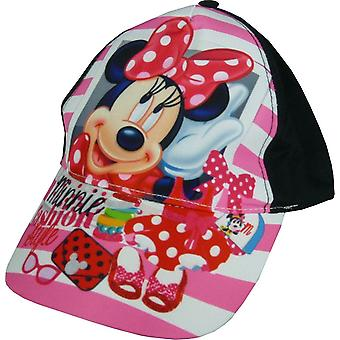 Girls Disney Minnie Mouse Fashion Style Baseball Cap with Adjustable Back