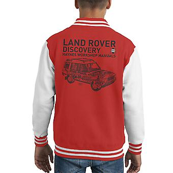Haynes Workshop Manual 3016 Land Rover Discovery svart Kid's Varsity Jacket