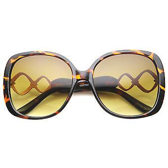 Womens Butterfly solbriller med UV400 beskyttet stigning linsen