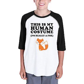 这是我的人类服装有趣的万圣节棒球衬衫为孩子们