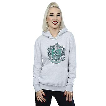 Harry Potter Women's Slytherin Distressed Crest Hoodie