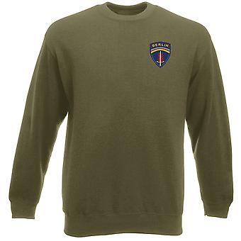 US-Armee in Berlin Brigade Stickerei Logo - Schwergewichts-Sweatshirt