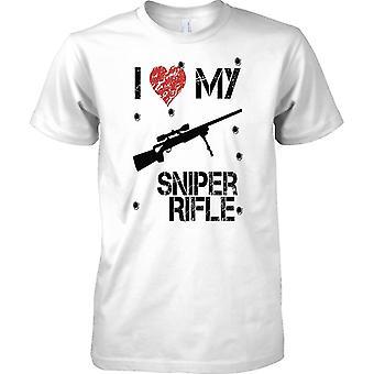 Me encanta mi Sniper Rifle - tirador de Arcade inspirado jugador - Kids T camisa