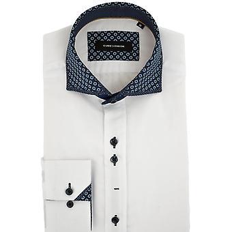 Guide London Layered Print Collar Mens Shirt