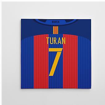 برشلونة عام 2016-2017 قماش الطباعة (توران 7)