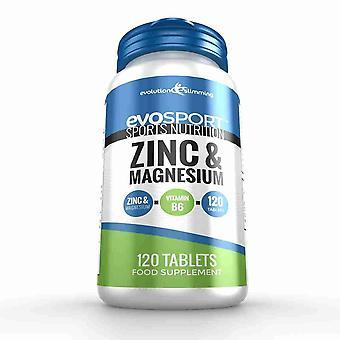 EvoSport zink og Magnesium ZMA - 120 Tabletter - sportsernæring - Evolution slankende