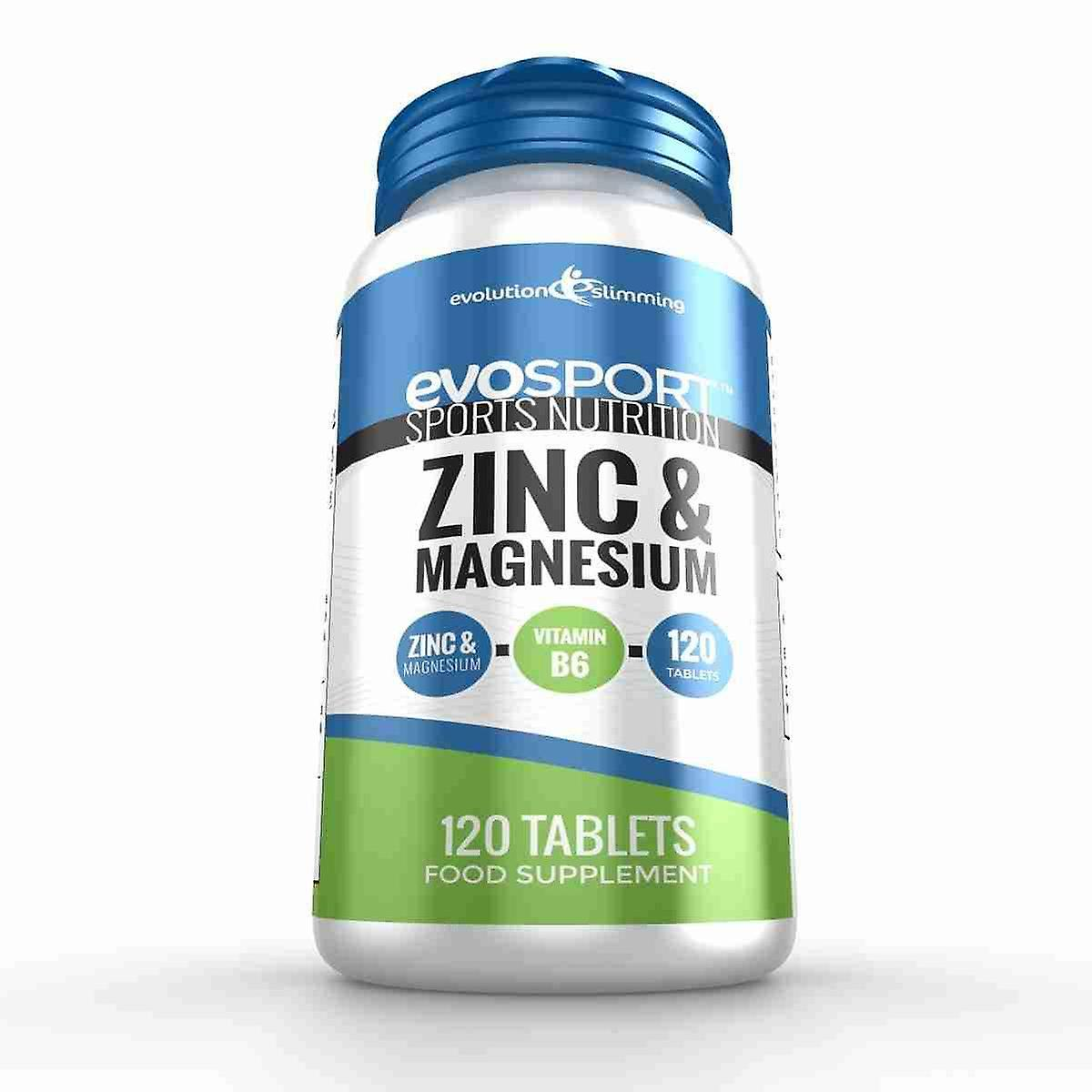 EvoSport Zinc and Magnesium ZMA - 120 Tablets - Sports Nutrition -  Evolution Slimming