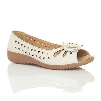 Ajvani Womens niedrigen Ferse flach Keil Komfort Sommer ausgeschnitten Sandalen Schuhe