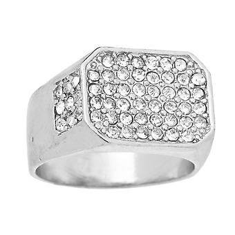 Iced out bling hip hop designer ring - RAPPER