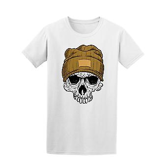 Hipster Skull Wearing Beanie Tee Men's -Image by Shutterstock