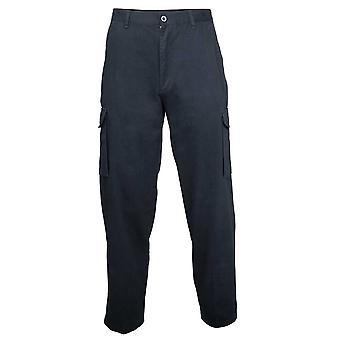 RTY Mens Heavy Duty Workwear Cargo Pants pantalon noir, marine