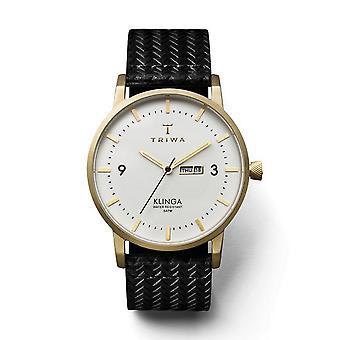 Triwa Unisex Watch wristwatch KLST103-GC010113 ivory Klinga leather