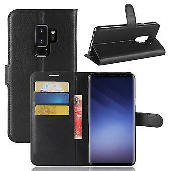 Pocket plånbok premium svart för Samsung Galaxy S9 plus G965F skydd ärm fall täcka påse nya