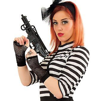 Handschoen van de macht zonder vingers zwart punkrock zware Matal accessoire