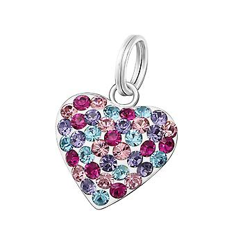 Heart - 925 Sterling Silver Charms With Split Ring - W37678x