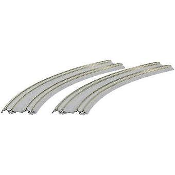 7078120 N Kato Unitrack Dual track, Bent 45 ° 480 mm, 447 mm