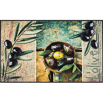 wash + dry mat L'olive washable dirt mat doormat