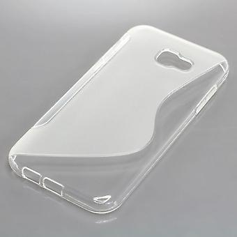 Mobile Shell S-line TPU protection case bumper shell for Samsung Galaxy A7 2017 transparent