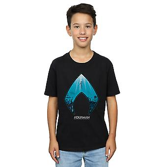 DC Comics Boys Aquaman Ocean Logo T-Shirt