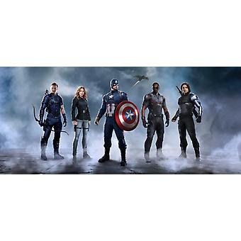 Captain America Mural 202x90 cm