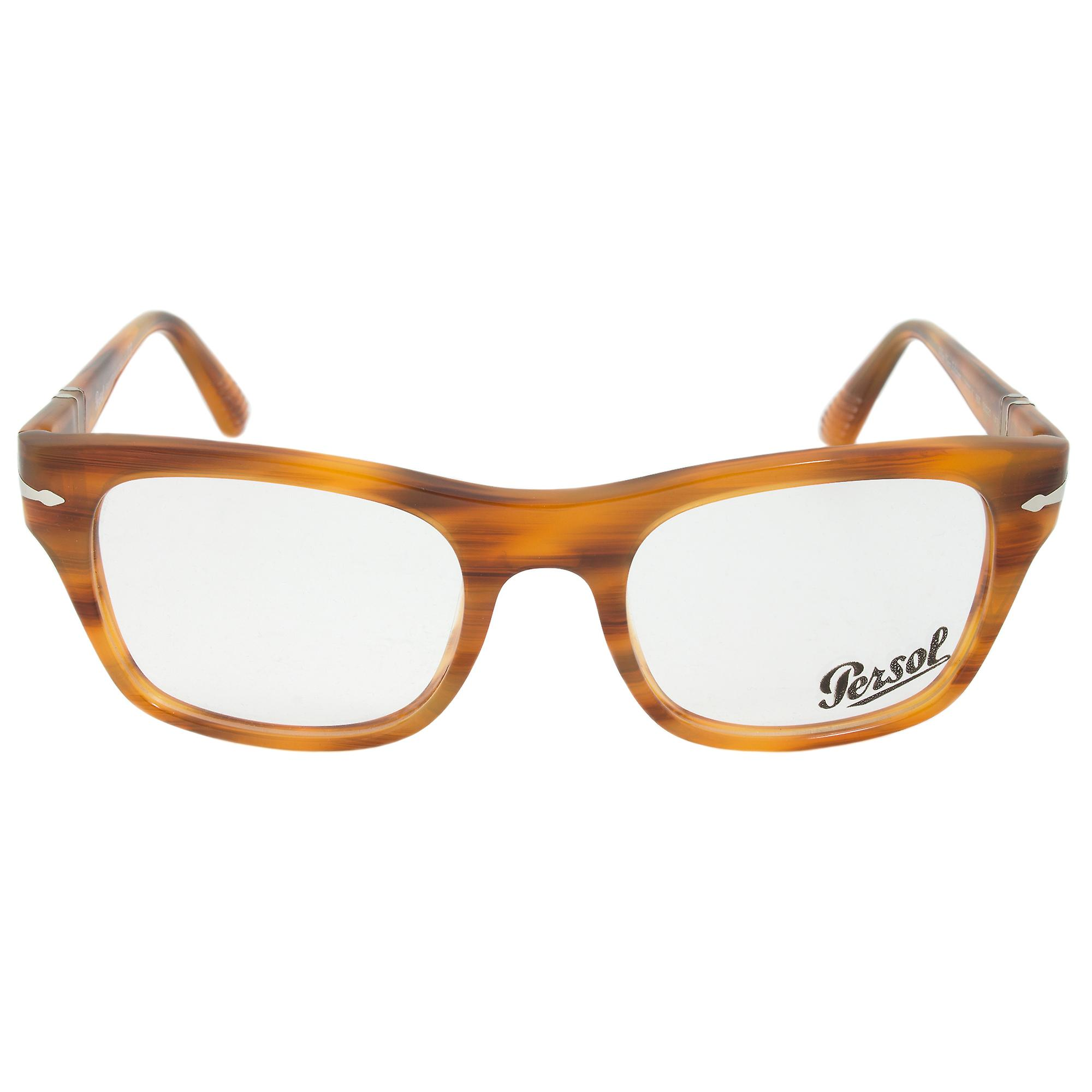 Persol 0PO3070V 960 Rectangular | Striped Brown| Eyeglass Frames