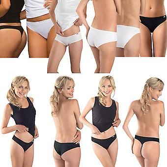 3 Pairs of Hanes Womens Underwear Knickers Panties Briefs Hipsters Thong