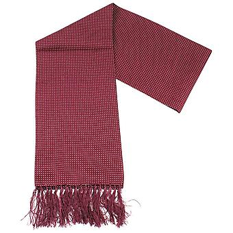 Knightsbridge Neckwear Pin Dot Dress Scarf - Burgundy