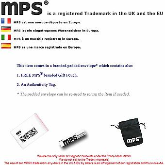 MPS® NORAD Gun Metal Magnetic Bangle with 6 Magnets with Luxury Gift Pouch