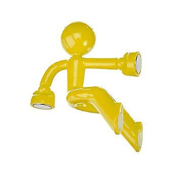 Climbing hubby fridge magnet-yellow