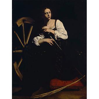 Saint Catherine,Caravaggio,50x40cm