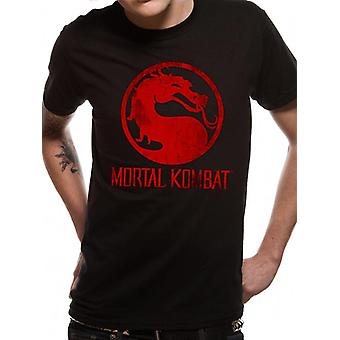 Mortal Kombat - Distressed Logo (Unisex)  T-Shirt