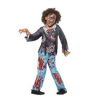 Zombie Child Costume, Halloween Child Fancy Dress, Medium Age 7-9
