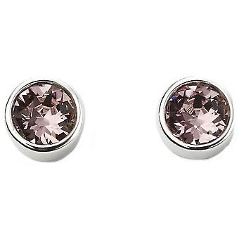 Beginnings June Swarovski Birthstone Earrings - Silver/Purple