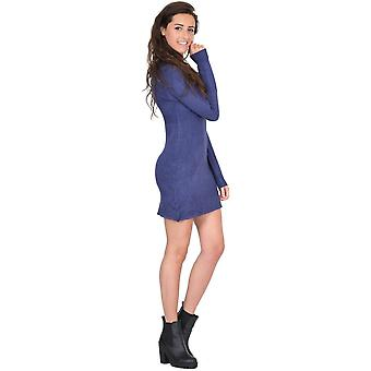 Long Sleeve Fitted Stretch Knit Tunic Jumper