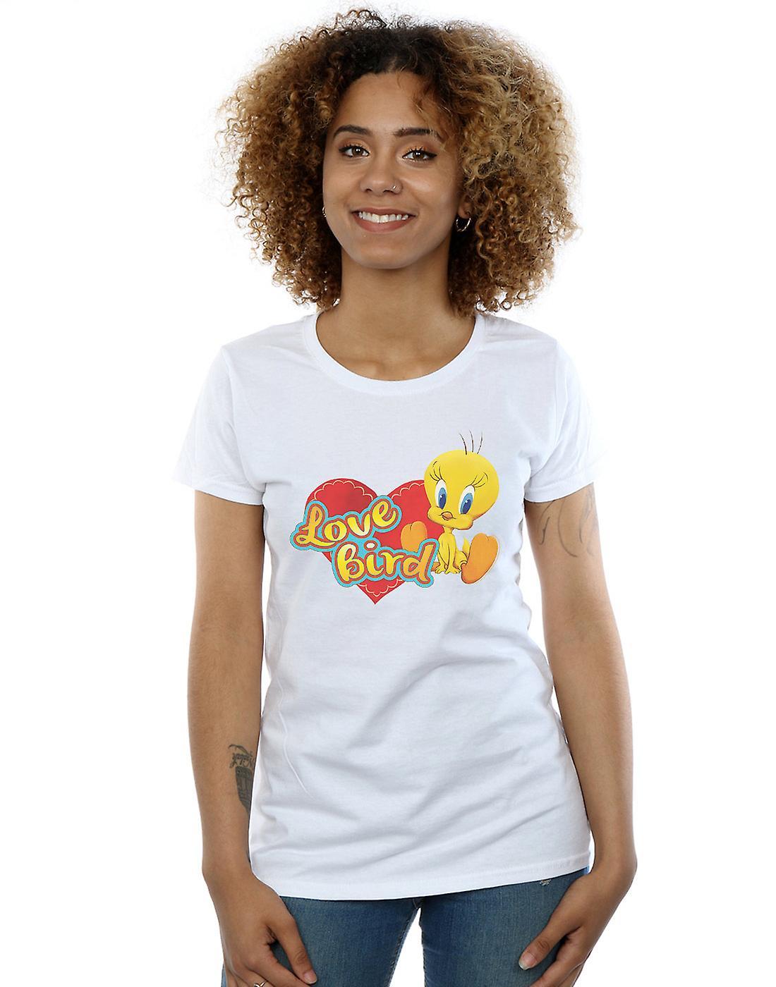 Looney Tunes Women's Tweety Pie Valentine's Day Love Bird T-Shirt