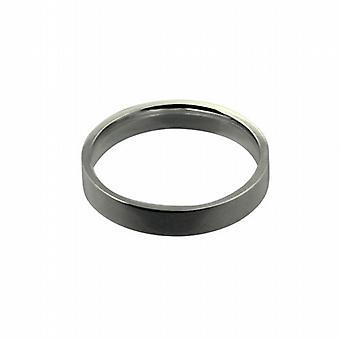 Platinum 4mm sima lapos bíróság alakú Karikagyűrű méret Z