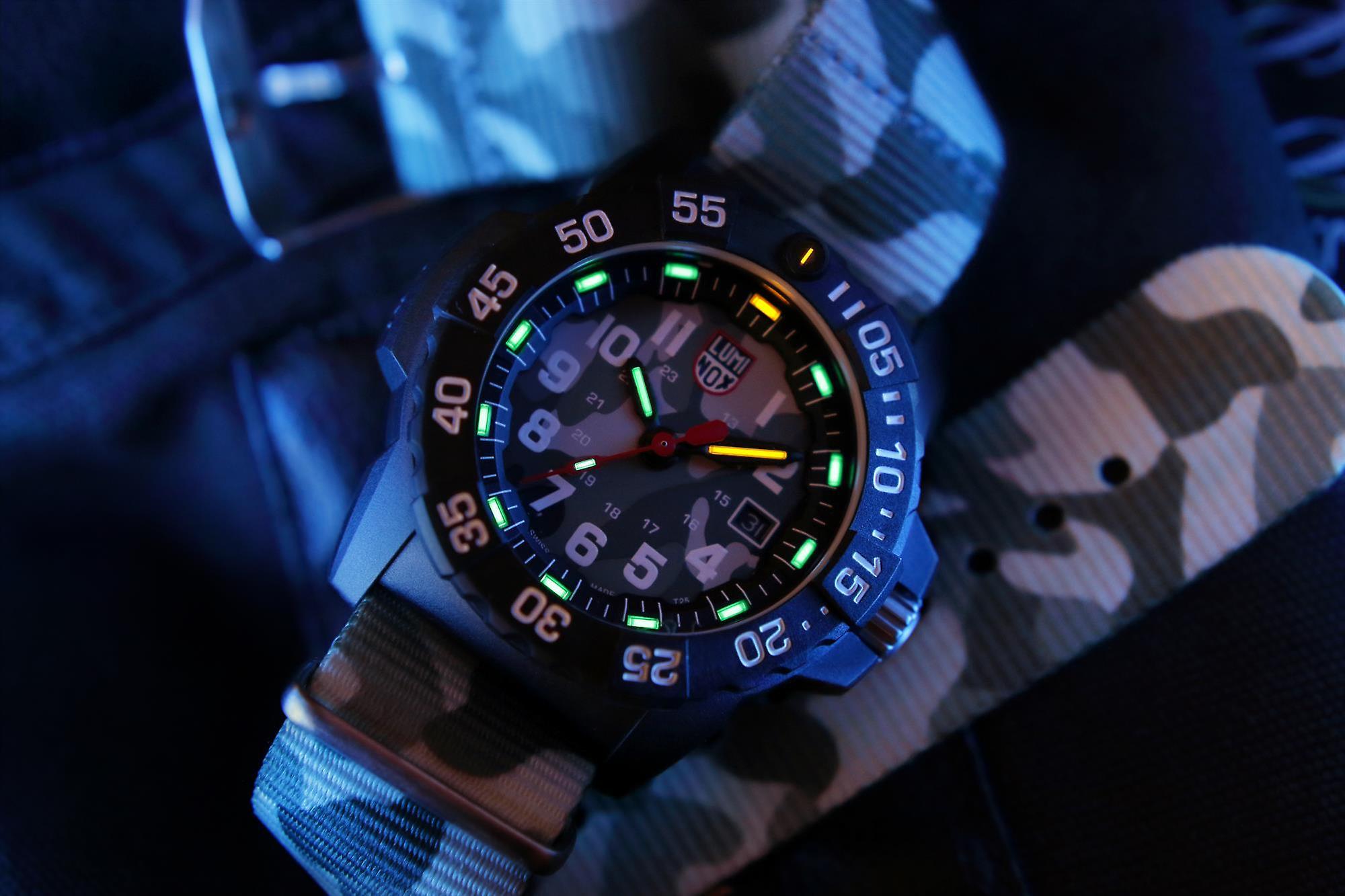 Luminox Navy SEAL 3500 Series Camo Strap Men's Watch XS.3507.PH