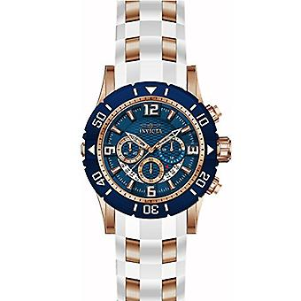 Invicta Pro Diver 23709 polyuréthane, montre chronographe en acier inoxydable