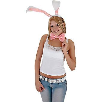 Bunny ører bue hale sæt Wt